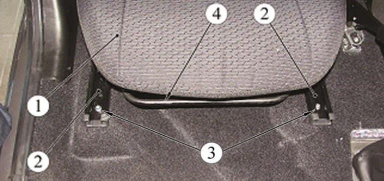 Как снять передние сиденья на Весте