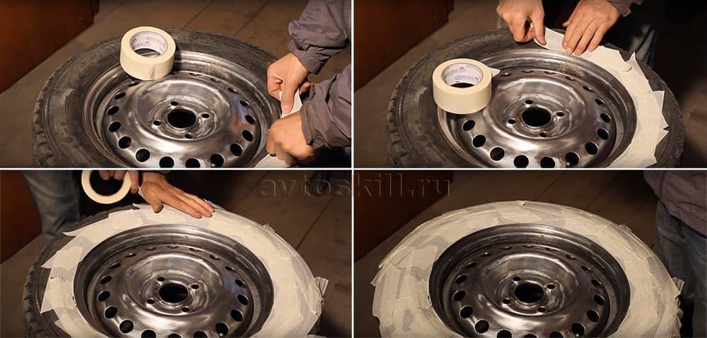 Как покрасить диски, не снимая резину