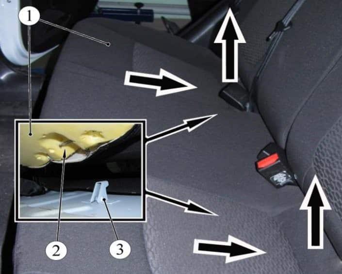 Как снять задние сидения на Весте
