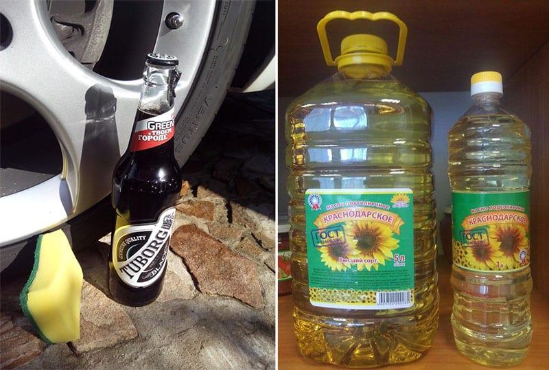 CHernenie rezinyi svoimi rukami pivo i maslo - Народные средства для чернения резины