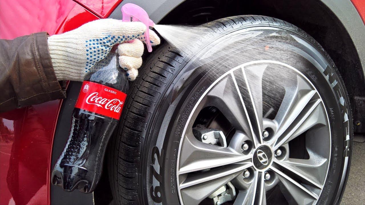 Чернение резины Кока-колой | Чернитель резины своими руками