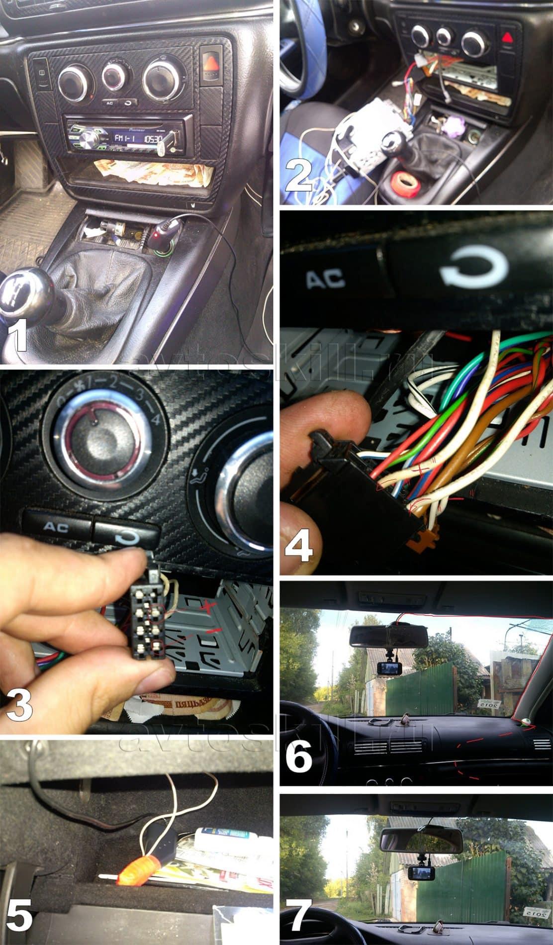Подключение видеорегистратора к магнитоле | Как подключить видеорегистратор без прикуривателя