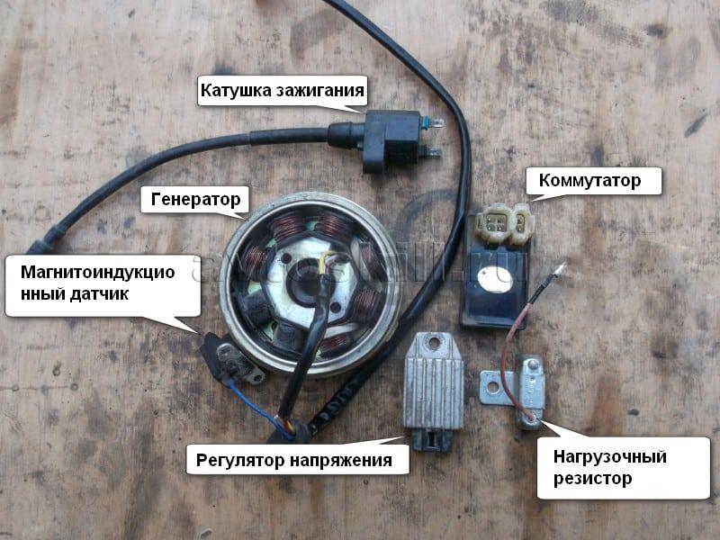 Устройство генератора скутера | Как проверить генератор на скутере
