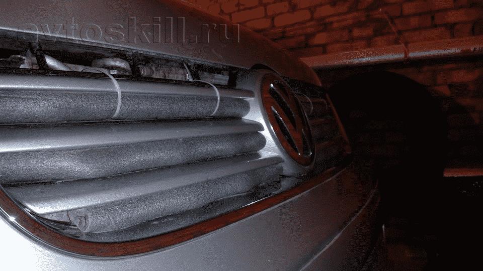 Как утеплить решетку радиатора автомобиля своими руками | Как и чем утеплить решетку радиатора автомобиля зимой