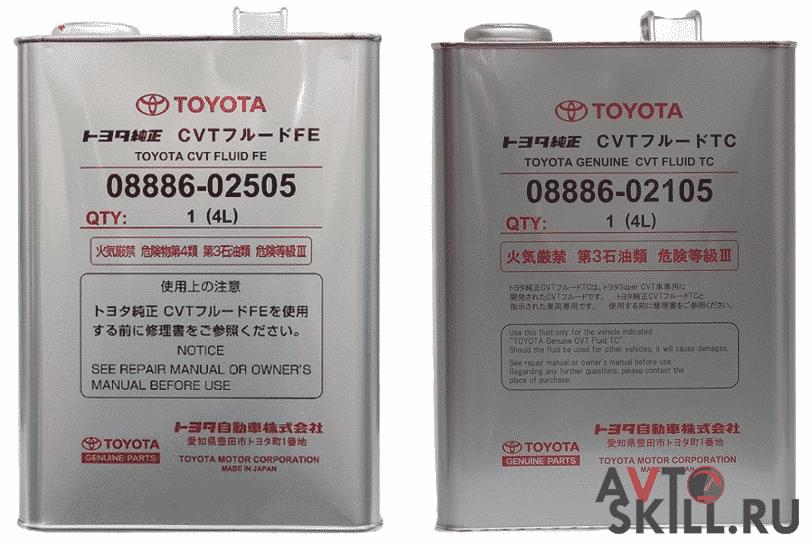 Масло в вариатор Тойота | Какое масло заливать в вариатор