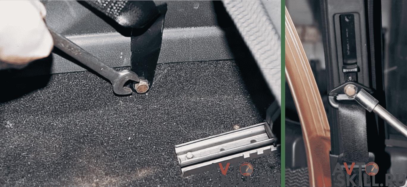 Как снять ремень безопасности на ВАЗ 2110, 2111, 2112