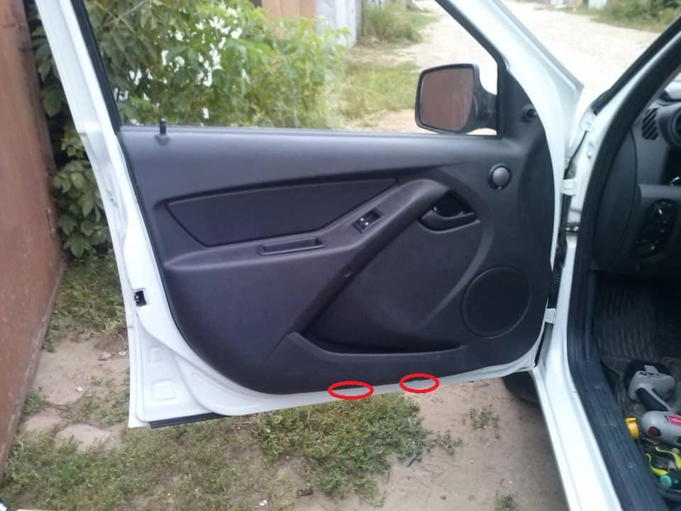 Как снять обшивку передней водительской двери на Лада Гранта