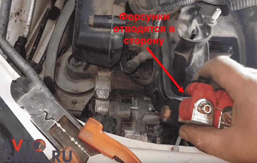 Как снять генератор через компрессор на Приоре