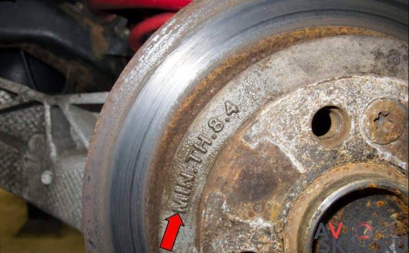 Важная информация о толщине тормозных дисков